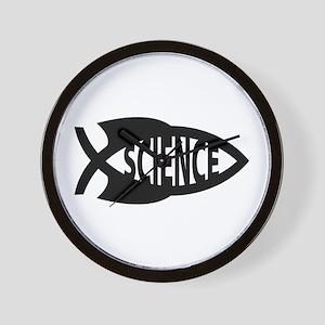 Science Fish Symbol Wall Clock