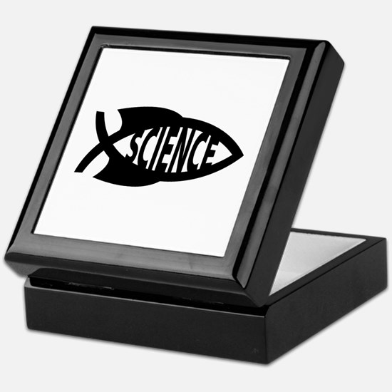 Science Fish Symbol Keepsake Box