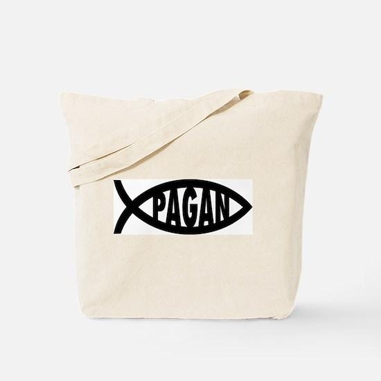 Pagan Fish Symbol Tote Bag
