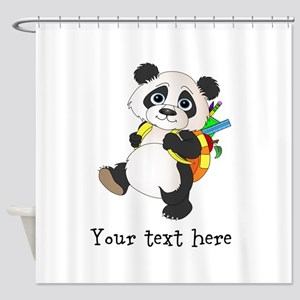 Personalize It - Panda Bear backpack Shower Curtai