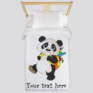 Personalize It - Panda Bear backpack Twin Duvet