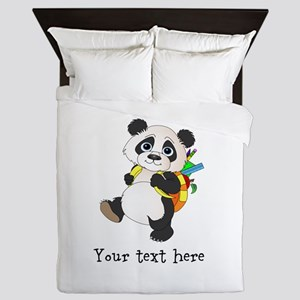 Personalize It - Panda Bear backpack Queen Duvet