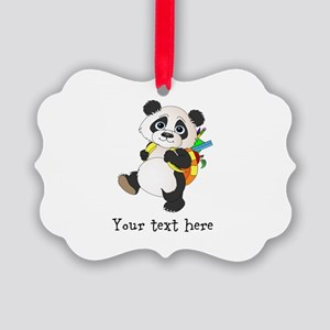 Personalize It - Panda Bear backpack Picture Ornam