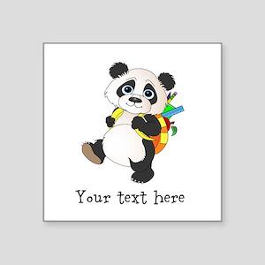 Personalize It - Panda Bear backpack Square Sticke