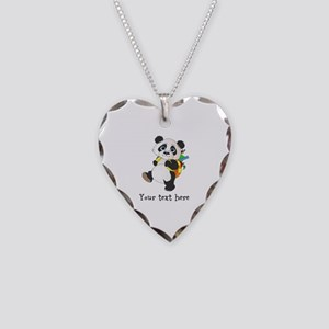 Personalize It - Panda Bear backpack Necklace Hear