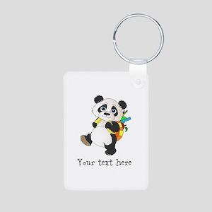 Personalize It - Panda Bear backpack Aluminum Phot