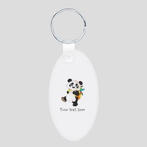 Personalize It - Panda Bear backpack Aluminum Oval