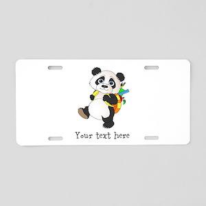 Personalize It - Panda Bear backpack Aluminum Lice