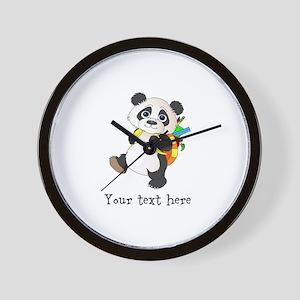 Personalize It - Panda Bear backpack Wall Clock
