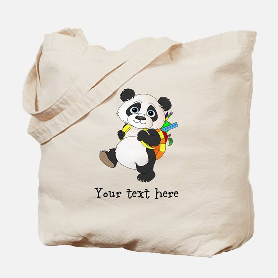 Personalize It - Panda Bear backpack Tote Bag