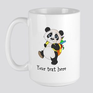 Personalize It - Panda Bear backpack Large Mug