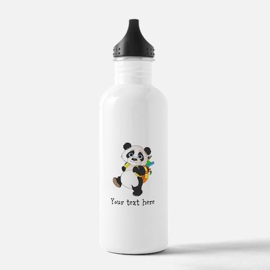 Personalize It - Panda Bear backpack Water Bottle
