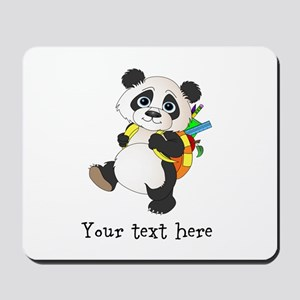 Personalize It - Panda Bear backpack Mousepad