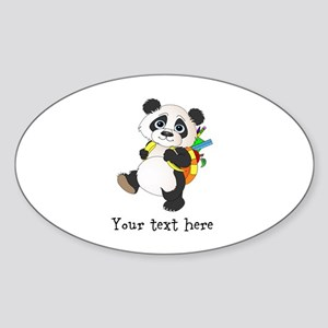 Personalize It - Panda Bear backpack Sticker (Oval