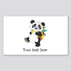 Personalize It - Panda Bear backpack Sticker (Rect