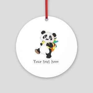 Personalize It - Panda Bear backpack Ornament (Rou