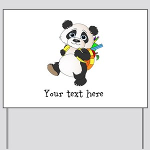 Personalize It - Panda Bear backpack Yard Sign