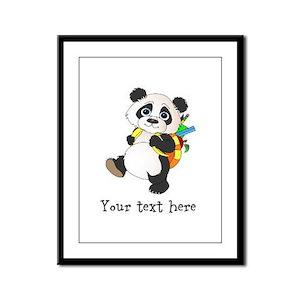 Personalize It - Panda Bear backpack Framed Panel