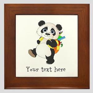 Personalize It - Panda Bear backpack Framed Tile
