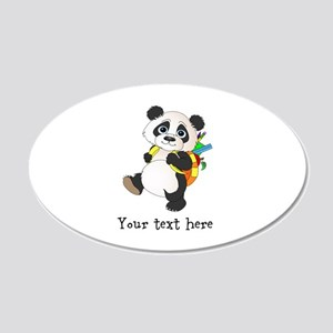 Personalize It - Panda Bear backpack 20x12 Oval Wa