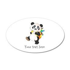 Personalize It - Panda Bear backpack Wall Decal