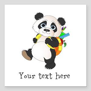 Personalize It - Panda Bear backpack Square Car Ma