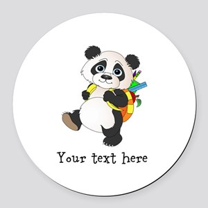 Personalize It - Panda Bear backpack Round Car Mag