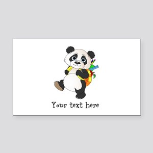 Personalize It - Panda Bear backpack Rectangle Car