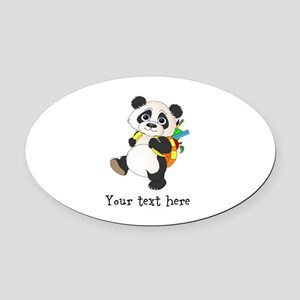 Personalize It - Panda Bear backpack Oval Car Magn