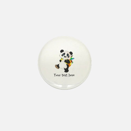 Personalize It - Panda Bear backpack Mini Button