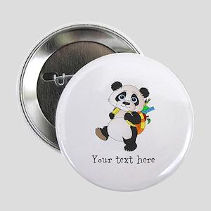 "Personalize It - Panda Bear backpack 2.25"" Button"