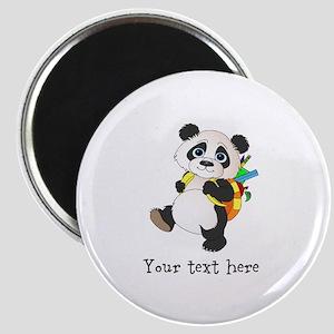 Personalize It - Panda Bear backpack Magnet