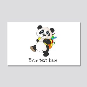 Personalize It - Panda Bear backpack Car Magnet 20