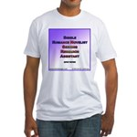 Single Romance Novelist Fitted T-Shirt