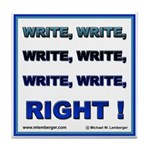 Write Right Tile Coaster