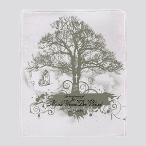 Myron Bland Tree of Life Throw Blanket