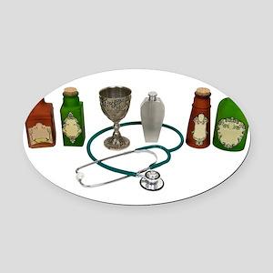AlternativeMedicine090409 Oval Car Magnet