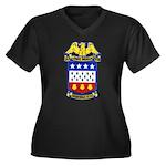 USS JONAS IN Women's Plus Size V-Neck Dark T-Shirt