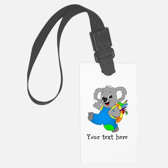 Personalize it - Koala Bear with backpack Luggage Tag