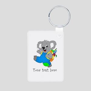 Personalize it - Koala Bear with backpack Aluminum