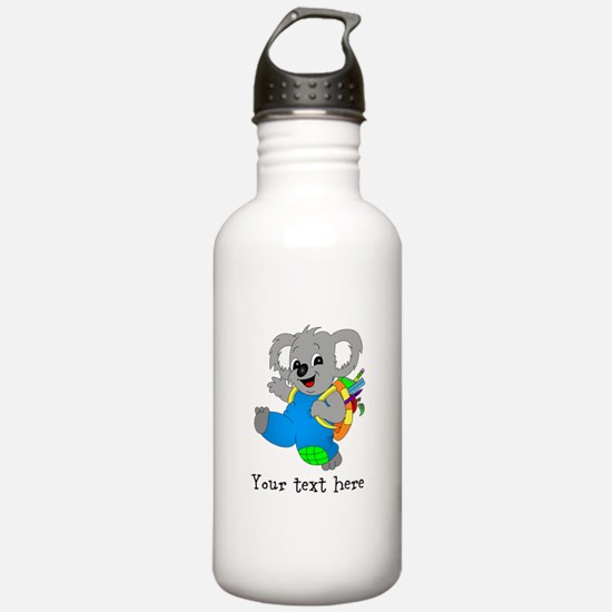 Personalize it - Koala Bear with backpack Stainles