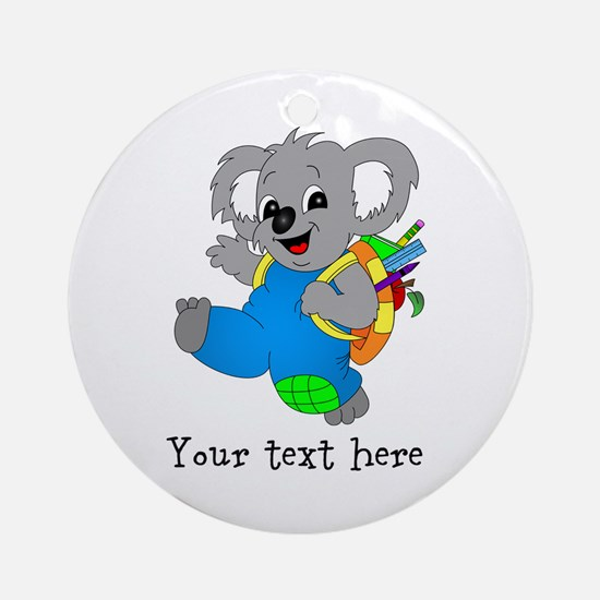 Personalize it - Koala Bear with backpack Ornament