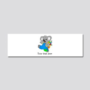 Personalize it - Koala Bear with backpack Car Magn