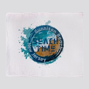 New Jersey - Gunnison Beach Throw Blanket