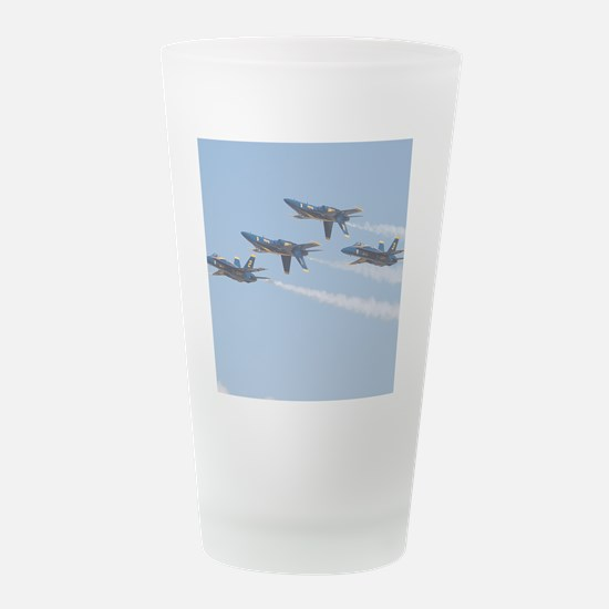 085-PAX River NAS-Blue Ange Frosted Drinking Glass
