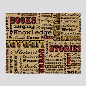 Books Books Books Throw Blanket