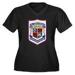 USS JOSEPH S Women's Plus Size V-Neck Dark T-Shirt