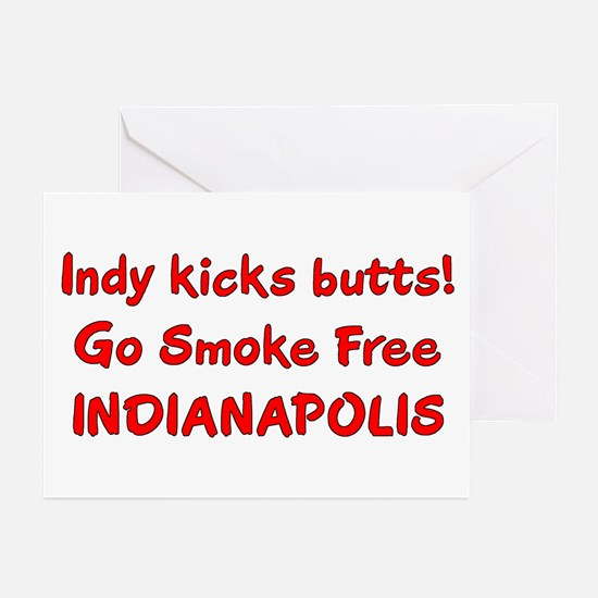 Indy kicks butts! Greeting Cards (Pk of 10)