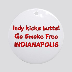 Indy kicks butts! Ornament (Round)