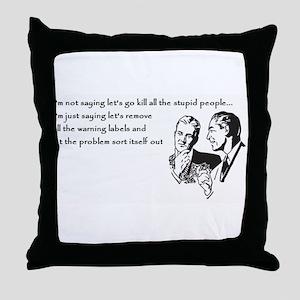 Warning Labels... Throw Pillow